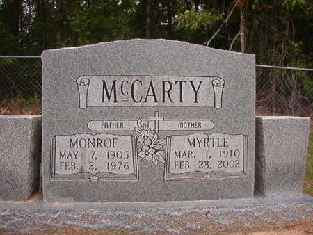 MCCARTY, MYRTLE - Webster County, Louisiana   MYRTLE MCCARTY - Louisiana Gravestone Photos