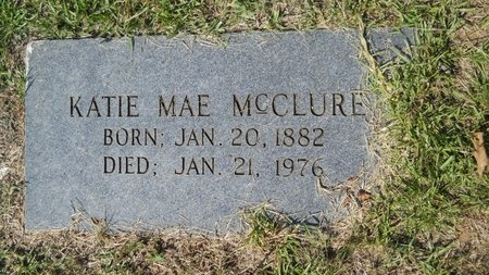 BOUNDS MCCLURE, KATIE MAE - Webster County, Louisiana | KATIE MAE BOUNDS MCCLURE - Louisiana Gravestone Photos