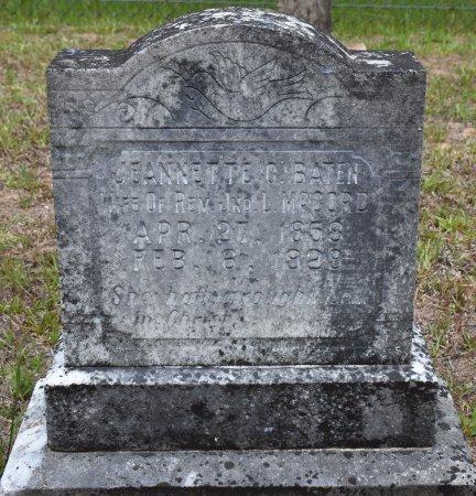 BATEN MCCORD, JEANNETTE C - Webster County, Louisiana | JEANNETTE C BATEN MCCORD - Louisiana Gravestone Photos
