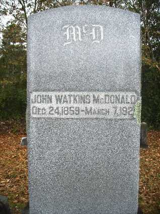 MCDONALD, JOHN WATKINS - Webster County, Louisiana | JOHN WATKINS MCDONALD - Louisiana Gravestone Photos