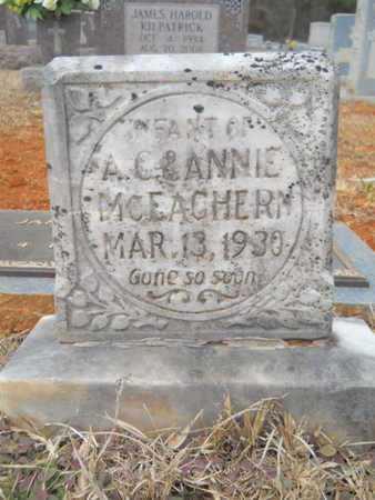 MCEACHERN, INFANT - Webster County, Louisiana   INFANT MCEACHERN - Louisiana Gravestone Photos