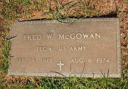 MCGOWAN, FRED W (VETERAN) - Webster County, Louisiana | FRED W (VETERAN) MCGOWAN - Louisiana Gravestone Photos