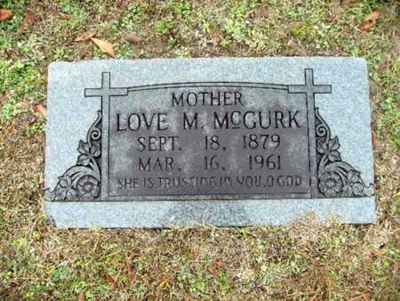 MCGURK, LOVE M - Webster County, Louisiana | LOVE M MCGURK - Louisiana Gravestone Photos
