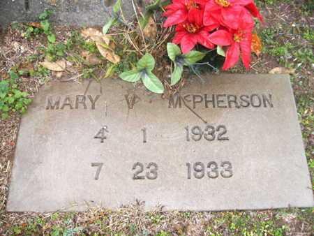 MCPHERSON, MARY V - Webster County, Louisiana | MARY V MCPHERSON - Louisiana Gravestone Photos