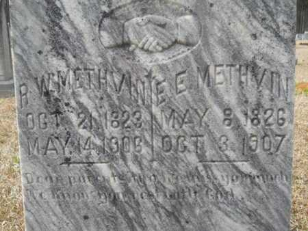 JARRELL METHVIN, ELIZABETH E (CLOSE UP) - Webster County, Louisiana | ELIZABETH E (CLOSE UP) JARRELL METHVIN - Louisiana Gravestone Photos