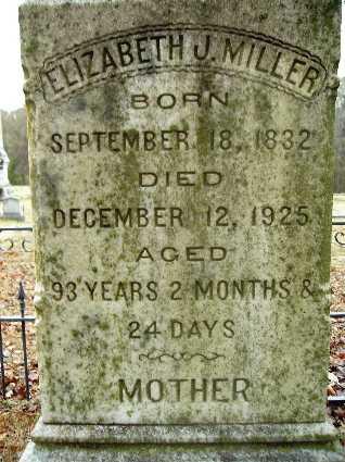 MILLER, ELIZABETH J (CLOSE UP) - Webster County, Louisiana   ELIZABETH J (CLOSE UP) MILLER - Louisiana Gravestone Photos