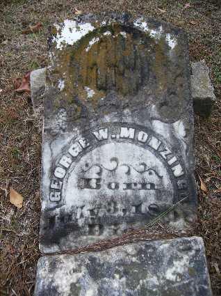 MONZINGO, GEORGE W - Webster County, Louisiana | GEORGE W MONZINGO - Louisiana Gravestone Photos