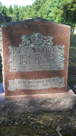 MOODY, J F - Webster County, Louisiana | J F MOODY - Louisiana Gravestone Photos