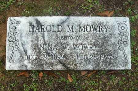 MOWRY, HAROLD M - Webster County, Louisiana | HAROLD M MOWRY - Louisiana Gravestone Photos