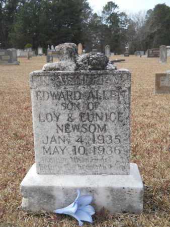 NEWSOM, EDWARD ALLEN - Webster County, Louisiana | EDWARD ALLEN NEWSOM - Louisiana Gravestone Photos