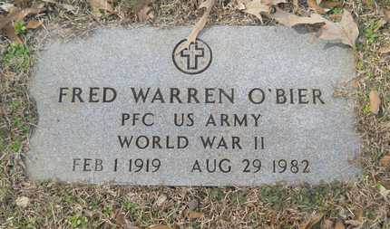 O'BIER, FRED WARREN (VETERAN WWII) - Webster County, Louisiana | FRED WARREN (VETERAN WWII) O'BIER - Louisiana Gravestone Photos