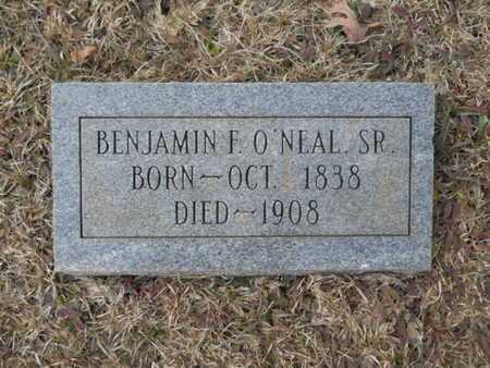 O'NEAL, BENJAMIN F, SR - Webster County, Louisiana | BENJAMIN F, SR O'NEAL - Louisiana Gravestone Photos