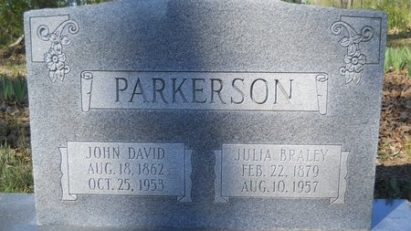 BRALEY PARKERSON, JULIA - Webster County, Louisiana | JULIA BRALEY PARKERSON - Louisiana Gravestone Photos