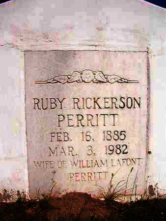 PERRITT, RUBY RICKERSON - Webster County, Louisiana | RUBY RICKERSON PERRITT - Louisiana Gravestone Photos