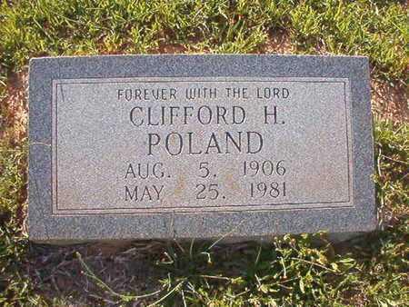 POLAND, CLIFFORD H - Webster County, Louisiana | CLIFFORD H POLAND - Louisiana Gravestone Photos