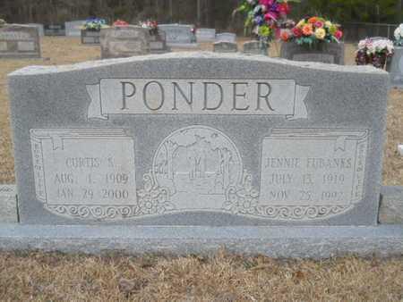 EUBANKS PONDER, JENNIE - Webster County, Louisiana | JENNIE EUBANKS PONDER - Louisiana Gravestone Photos