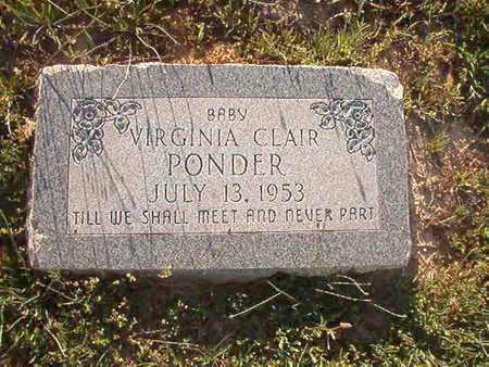 PONDER, VIRGINIA CLAIR - Webster County, Louisiana | VIRGINIA CLAIR PONDER - Louisiana Gravestone Photos