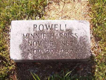 HARRISS POWELL, MINNIE - Webster County, Louisiana | MINNIE HARRISS POWELL - Louisiana Gravestone Photos