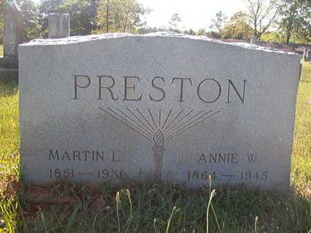 PRESTON, MARTIN L - Webster County, Louisiana | MARTIN L PRESTON - Louisiana Gravestone Photos