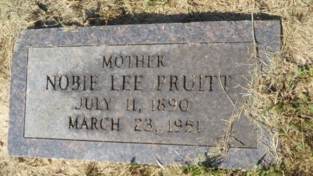 PRUITT, NOBIE LEE - Webster County, Louisiana | NOBIE LEE PRUITT - Louisiana Gravestone Photos