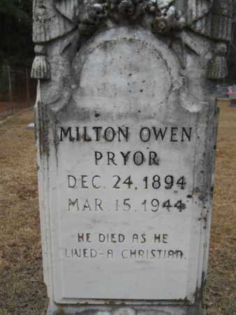PRYOR, MILTON OWEN (CLOSE UP) - Webster County, Louisiana   MILTON OWEN (CLOSE UP) PRYOR - Louisiana Gravestone Photos