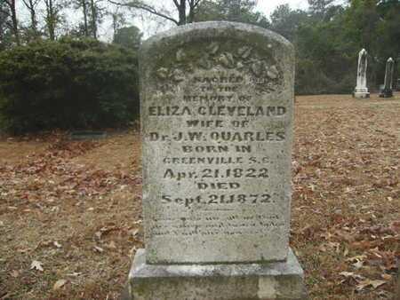 CLEVELAND QUARLES, ELIZA - Webster County, Louisiana   ELIZA CLEVELAND QUARLES - Louisiana Gravestone Photos