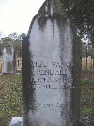 VANCE RENDALL, THEO - Webster County, Louisiana | THEO VANCE RENDALL - Louisiana Gravestone Photos