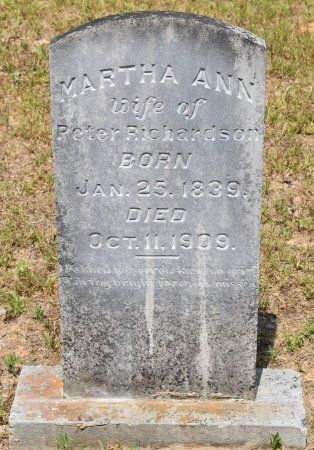 RICHARDSON, MARTHA ANN - Webster County, Louisiana | MARTHA ANN RICHARDSON - Louisiana Gravestone Photos