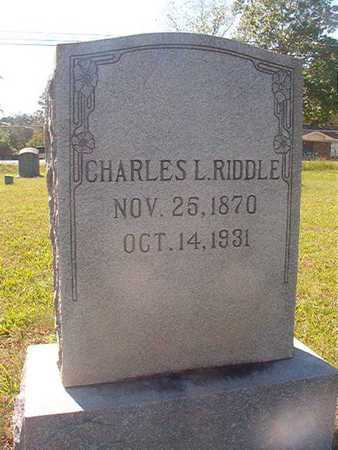 RIDDLE, CHARLES L - Webster County, Louisiana | CHARLES L RIDDLE - Louisiana Gravestone Photos