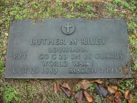 RILEY, LUTHER M (VETERAN WWI) - Webster County, Louisiana | LUTHER M (VETERAN WWI) RILEY - Louisiana Gravestone Photos