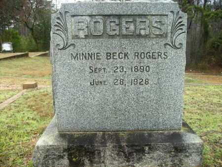 ROGERS, MINNIE - Webster County, Louisiana | MINNIE ROGERS - Louisiana Gravestone Photos