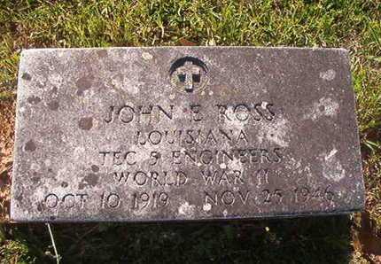 ROSS, JOHN E (VETERAN WWII) - Webster County, Louisiana | JOHN E (VETERAN WWII) ROSS - Louisiana Gravestone Photos