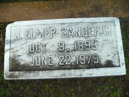 SANDEFUR, J ELMER - Webster County, Louisiana | J ELMER SANDEFUR - Louisiana Gravestone Photos