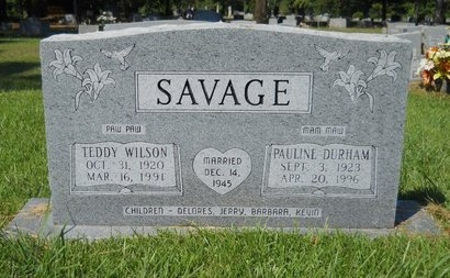 SAVAGE, PAULINE - Webster County, Louisiana | PAULINE SAVAGE - Louisiana Gravestone Photos