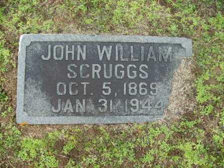 SCRUGGS, JOHN WILLIAM - Webster County, Louisiana   JOHN WILLIAM SCRUGGS - Louisiana Gravestone Photos