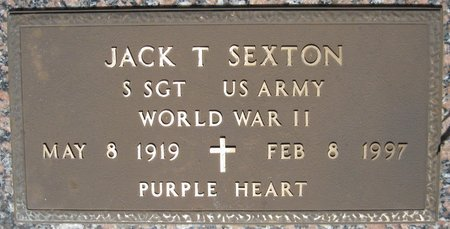 SEXTON, JACK T (VETERAN WWII) - Webster County, Louisiana   JACK T (VETERAN WWII) SEXTON - Louisiana Gravestone Photos