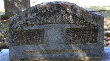SIMMONS, JAMES W - Webster County, Louisiana | JAMES W SIMMONS - Louisiana Gravestone Photos