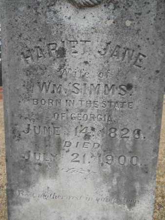 BURNS SIMMS, HARIET JANE (CLOSE UP) - Webster County, Louisiana | HARIET JANE (CLOSE UP) BURNS SIMMS - Louisiana Gravestone Photos