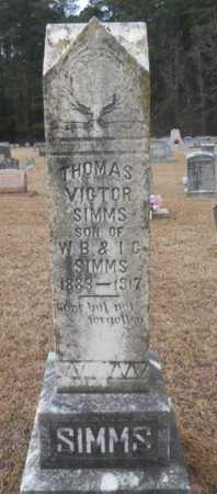 SIMMS, THOMAS VICTOR - Webster County, Louisiana | THOMAS VICTOR SIMMS - Louisiana Gravestone Photos