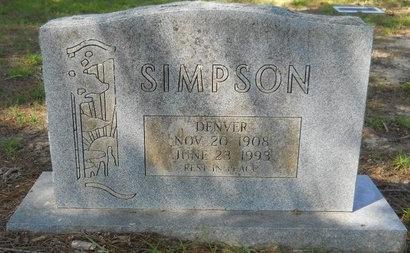 SIMPSON, DENVER - Webster County, Louisiana   DENVER SIMPSON - Louisiana Gravestone Photos