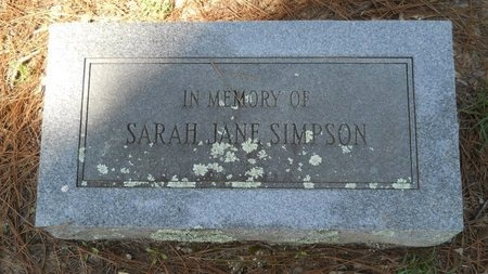 SIMPSON, SARAH JANE - Webster County, Louisiana | SARAH JANE SIMPSON - Louisiana Gravestone Photos