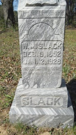 SLACK, WILLIAM MARION - Webster County, Louisiana | WILLIAM MARION SLACK - Louisiana Gravestone Photos