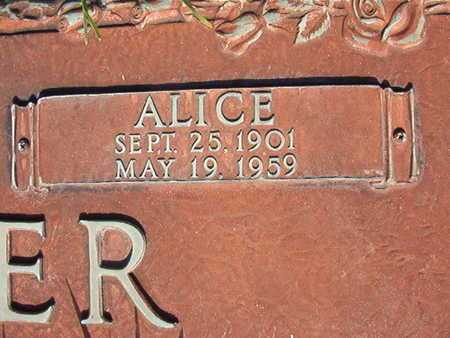 SOUTER, ALICE (CLOSE UP) - Webster County, Louisiana | ALICE (CLOSE UP) SOUTER - Louisiana Gravestone Photos