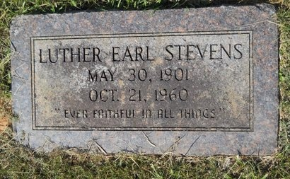 STEVENS, LUTHER EARL - Webster County, Louisiana | LUTHER EARL STEVENS - Louisiana Gravestone Photos