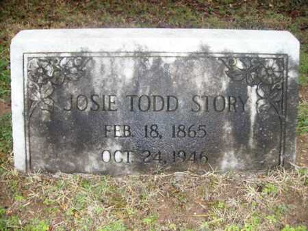 TODD STORY, JOSIE - Webster County, Louisiana | JOSIE TODD STORY - Louisiana Gravestone Photos