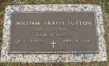 SUTTON, WILLIAM TRAVIS (VETERAN WWII) - Webster County, Louisiana | WILLIAM TRAVIS (VETERAN WWII) SUTTON - Louisiana Gravestone Photos