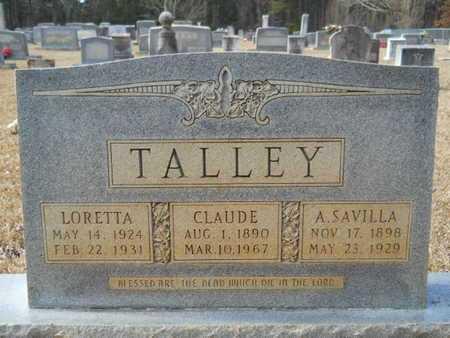 TALLEY, CLAUDE - Webster County, Louisiana | CLAUDE TALLEY - Louisiana Gravestone Photos