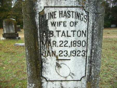 HASTINGS TALTON, ALINE (CLOSE UP) - Webster County, Louisiana | ALINE (CLOSE UP) HASTINGS TALTON - Louisiana Gravestone Photos