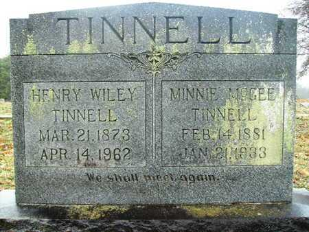 MCGEE TINNELL, MINNIE - Webster County, Louisiana | MINNIE MCGEE TINNELL - Louisiana Gravestone Photos