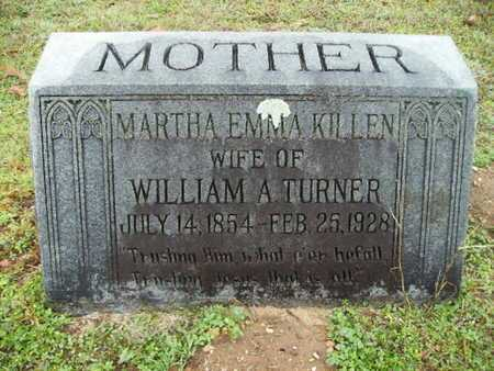 KILLEN TURNER, MARTHA EMMA - Webster County, Louisiana | MARTHA EMMA KILLEN TURNER - Louisiana Gravestone Photos